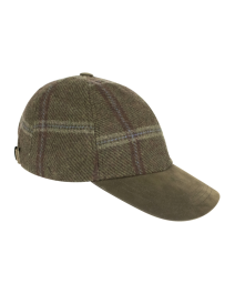 Hoggs of Fife MUSSELBURGH LADIES TWEED BASEBALL CAP