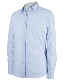 Hoggs of Fife Bonnie 11 Ladies Cotton Shirt-Blue Stripe