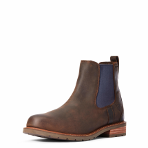Ariat Men's Wexford H2O Boots-Mocha/Navy