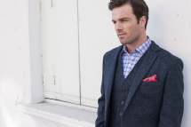 Brook Taverner Men's Stranraer Harris Tweed Wool Jacket