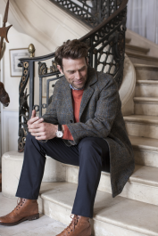 Brook Taverner Men's Sumburgh Harris Tweed Wool Jacket