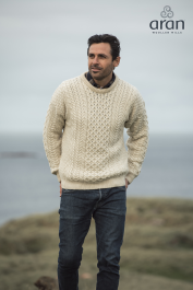 Traditional Crew Neck Aran Sweater