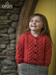 Children's Traditional Aran Lumber Cardigan