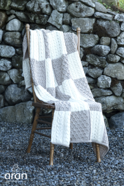 Intarsia Throw Made from 100% Merino