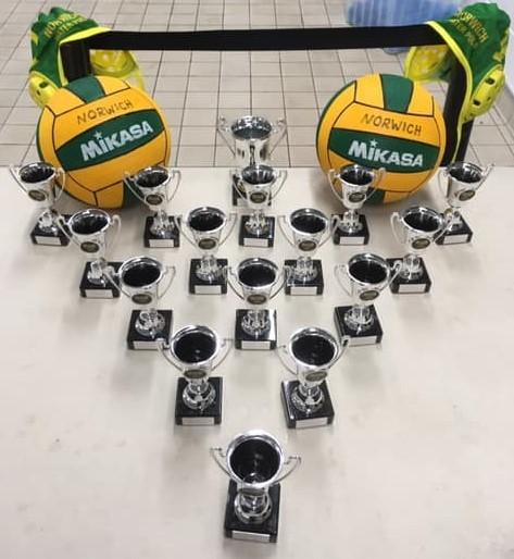 Norwich water polo throphy table