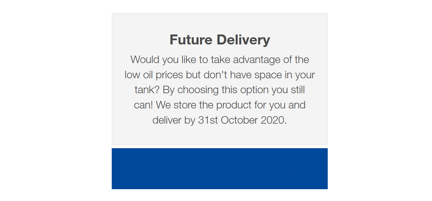 Future Fuel Delivery Option