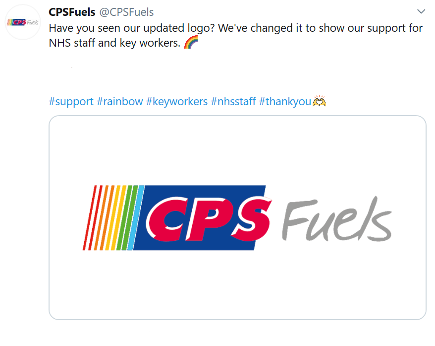 CPS Fuels Rainbow Thank You