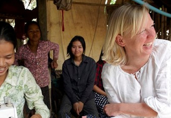 Deborah travels to Cambodia to support entrepreneurs