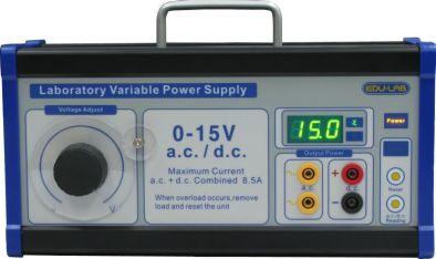 Power Supply, 0-15V Variable - Edulab
