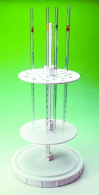 Pipette Stand, Holds 28 Vertically, Polypropylene