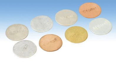 Metal Discs - Set of  8 types 25mm dia