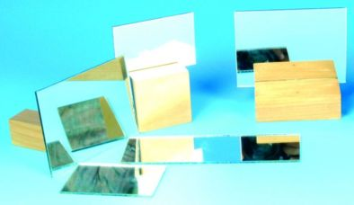 Mirror, Plane Glass, Unmounted, 75x25mm (Pk10)