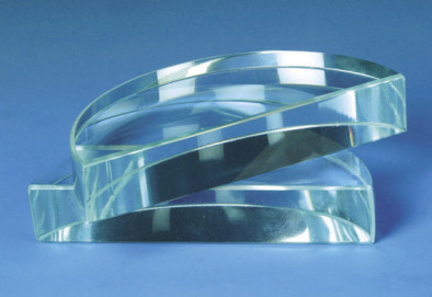Prism - Clear Glass Semi Circular 90x16mm thick