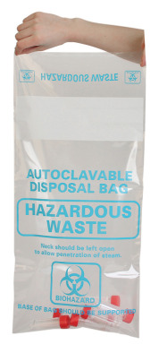 Autoclave Bag Disposable,310x660mm (Pk 200) - Labelled