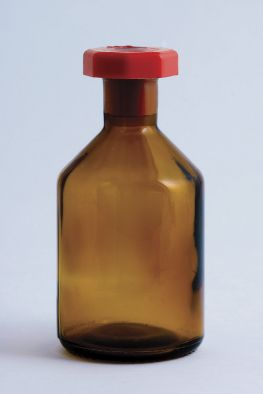 Reagent Bottle, Amber Glass, 250ml Plastic Stopper