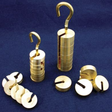 Mass Set, Brass, Incl.Hanger., 100g (20g Hanger & 4 x 20g Masses)
