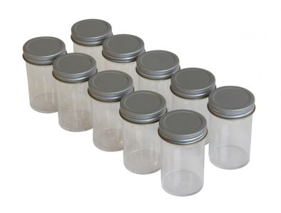 Specimen Container, Metal Cap 100ml, No label (Pk200)