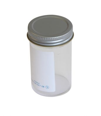 Specimen Container, Metal Cap 100ml, Plain label (Pk200)