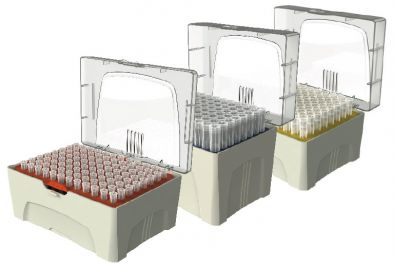 Pipette Tips In Rack, Sterile, 200uL, 96 per rack (PK10)