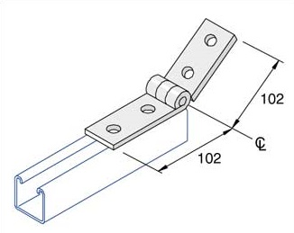 Adjustable Angle Bracket 0-180°