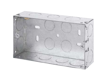 Double Socket Metal Back Box