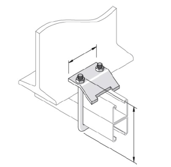 U Bolt Beam Clamp (Back to Back Channel)