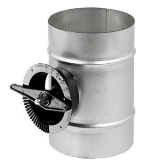 Single Blade Damper for Spiral Ductwork