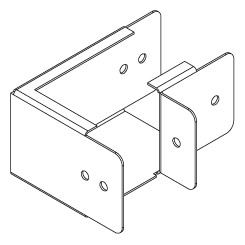 Lighting Top Lid Bends 90° (Square)