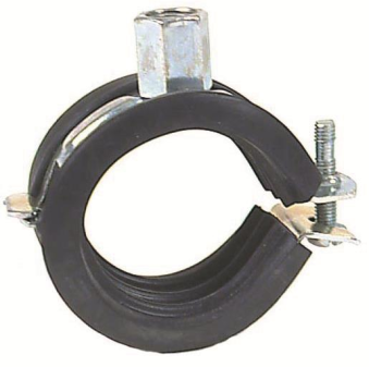 Black Rubber-lined Clips - Hinged