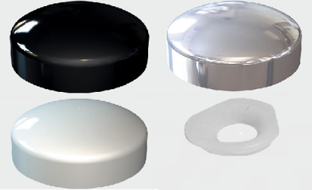 Plastic Dome Cap and Washer