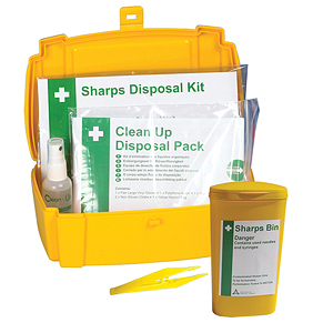 Body Fluid and Sharps Disposal Kit