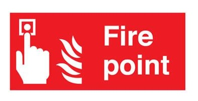 Fire Point Sign (F66A-R)