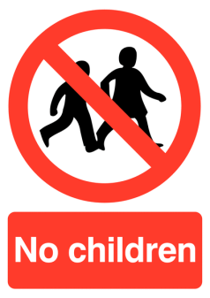 No Children Sign (P01V/R)