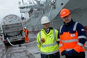 Mark Frith, port manager of Immingham & Grimsby ABP and James Goodson, National Account Manager at Flogas