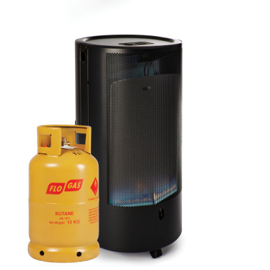 Blue Belle Chic 'Nera' Portable Heater with Gas Cylinder