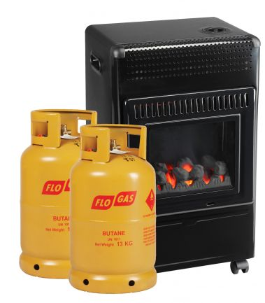 FG50 Ceramic Coals with 2 Gas Cylinders