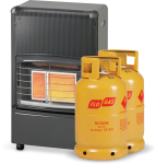 Superser F150 Radiant Portable Heater with 2 Gas Cylinders