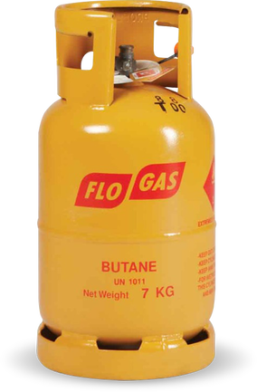 7kg Butane Gas Cylinder (21mm Clip on Regulator)
