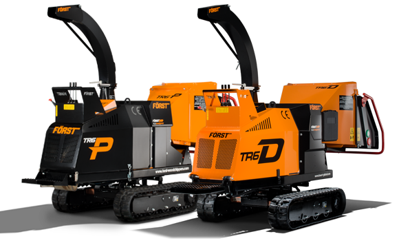 Tracked Woodchippers