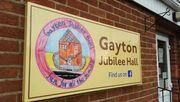 Gayton Jubliee Hall Sign