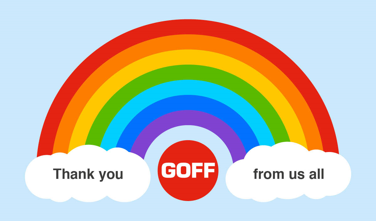 Goff  - thank you from us all