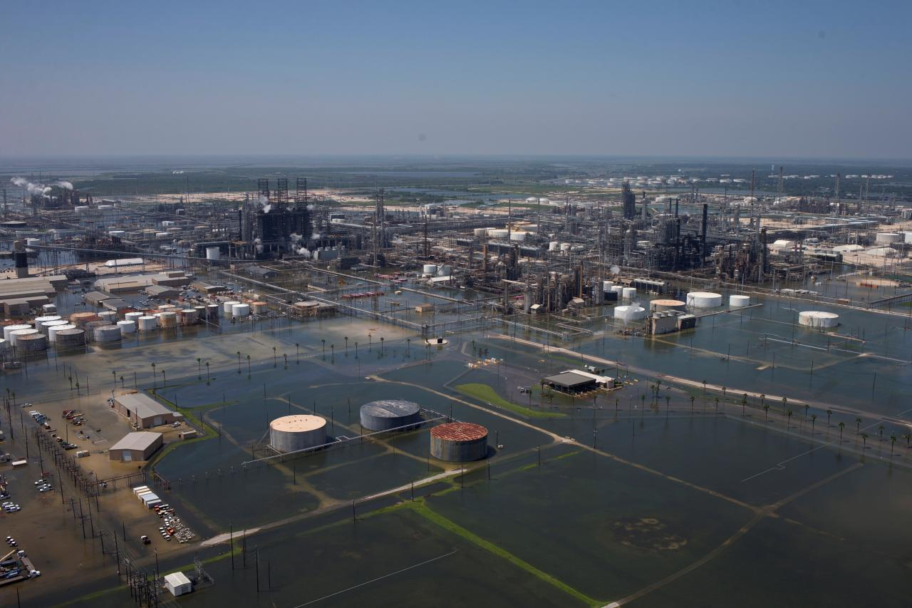 Storm Harvey Flooded Refinery