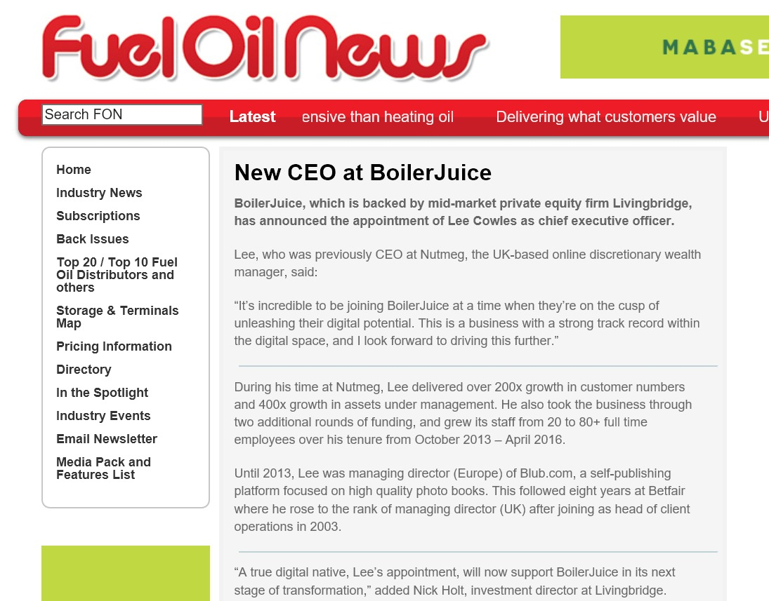 Fuel Oil News Boilerjuice