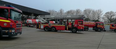 Welders spark fire at heating oil storage depot (Norfolk Fire & Rescue Service Exercise)