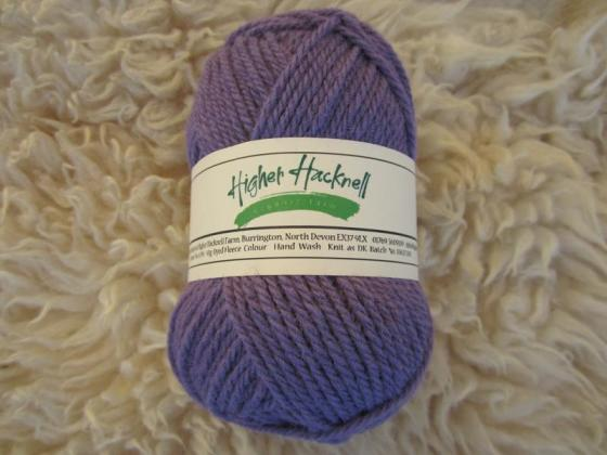 Organic Lleyn Wool - Purple