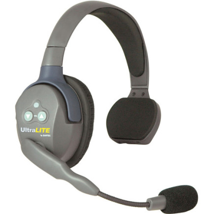 Eartec UltraLITE Single Master Headset with Rechargeable Lithium Battery