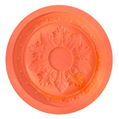 Canterbury Floral Silicone Ceiling Rose Mould (35cm dia)
