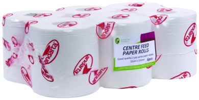 Centre Feed Paper Rolls (150mtr x 185mm Wide)