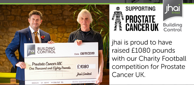 jhai raise £1080 for Prostate Cancer UK
