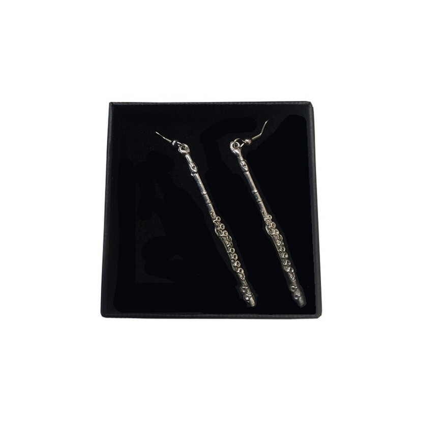 Flute Pewter Earrings